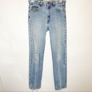 Levi's Orange Tab 505 Distressed Jeans Size 32